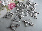 16 x Crossbow Silver Tibetan Metal Link Charms,Pendant,jewellery making