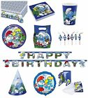 THE SMURFS Birthday PARTY RANGE (Tableware Balloons & Decorations)