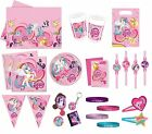 MY LITTLE PONY Birthday PARTY RANGE Pink Tableware Balloons Decorations Banners