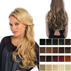 Koko thick Clip in hair extensions one piece strip curly weft Various colours