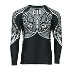 RASH GUARD EXTREME HOBBY LONG SLEEVE MOKO TRIBAL FOR MMA TRAINING FIGHT RUNNING