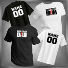 Basketball Mom or Dad (U-Pick) & Personalize T-Shirt All Adult Sizes XS - 6XL