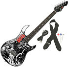 Peavey Rockmaster Full Size Walking Dead - Black White Splash Electric Guitar