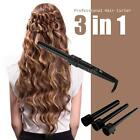 3 in 1 Hair Curler Roller Cylindrical 3 Curling Irons Set + Glove 2 Colors E6L4