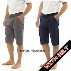 mens summer long shorts cargo pocket summer casual holiday work  100% cotton 011