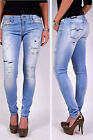 REPLAY Jeans WX689 LUZ Skinny Fit 759 light blue Destroyed & Repaired NEW FS2016