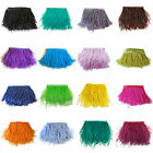 """1/5/10Yards Ostrich Feathers Trims Fringe Ribbon Tape Sewing Craft 10-15cm/4-6"""""""