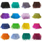 1/5/10Yards Ostrich Feathers Trims Fringe Ribbon Tape Sewing Craft 10-15cm/4-6""