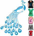 Peacock print retro Ladies Funny T-Shirts Singlets Women's New cool size charts