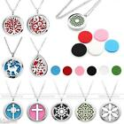 NEW Steel Aromatherapy Essential Perfume Oil Diffuser Locket Pendant Necklace