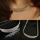 Lady Jewelry Charm Crystal Choker Chunky Statement Bib Pendant Chain Necklace
