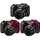 Nikon COOLPIX L840 16MP Digital Camera w/ 38x Zoom VR Lens & WiFi - Choose Color