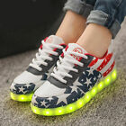 Men Women LED Light Luminous Sneaker Fluorescence Athletic Shoes USB Charge
