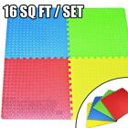 Foam Interlocking Floor Mats Childrens Kids Flooring Play Puzzle Gym Exercise