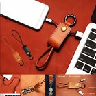 Leather key Ring Charger Sync Micro USB Data Cable For iPhone 6S PLUS 5S