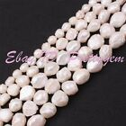 """White Natural Lumpy Baroque Freshwater Cultivate Pearl Gemstone Beads Strand 15"""""""