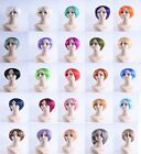 Harajuku Anime Short Straight  Cosplay Wigs  Heat Resistant Synthetic Hair