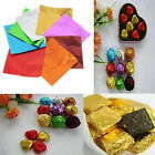 100pcs Sweets Candy Package Foil Paper Chocolate Lolly Foil Wrappers Square