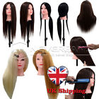"""80% Real Hair Cosmetology Doll + 24"""" Hairdressing Training Head 4 Type UK Stock"""
