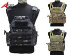 Tactical Molle Camo Plate Carrier Combat Vest Military Hunting Airsoft Paintball
