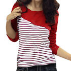 Long Sleeve Bar Striped Spring Shirt Top New for Girls