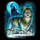 Wolf Silhouette Long Sleeve T Shirts Pick Your Size image