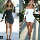 2015 Sexy Cut Out Strapless Dress Women Long Sleeve Party Night Club Dress JR