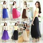 Womens Summer Maxi Skirt Pleated Long Skirts Casual Holiday Beach Party Dres A89
