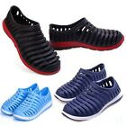 New Boy Mens Hollow Sandals Summer Beach Shoes Flats Casual Rubber Slip-on Shoes