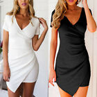 UK Womens Ladies Bodycon Evening Cocktail Formal Party Lace Mini Dress Size 6-20
