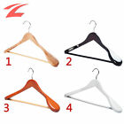 High Quality 40 Wooden Coat Hangers With Trouser Bar Wood Garment Clothes Hanger