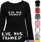 Funny T-Shirts Singlets Eve was Framed Adam and Eve Women's Ladies Sizes Aussie