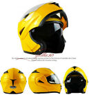 DOT Dual Visor Flip Up Motorcycle Helmet Motocross Full Face Street Bike M L XL