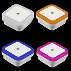 Auto LED Light Induction Sensor Control Bedroom Night Lights Bed Lamp US EU Plug