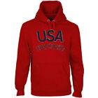 USA Field Hockey Heritage Men's Mid-Weight Pullover Hoodie - Red