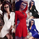 New Arrival!sexy women Dew chest v-neck zipper Cultivate one's morality dress