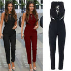 Women's Celebrity Evening Party Playsuit Ladies Lace Formal Long Jumpsuit S-XL