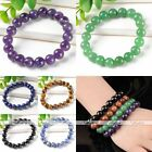 10mm Natural Gemstone Round Beads Bracelet Wristband Bangle Women Men Jewelry