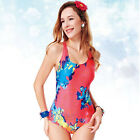 YINGFA Women's Sexy One Piece Swimsuit Halter Padded Backless Vintage 1633