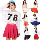 Women's Pleated Shorts Skirt Candy Color Plus Size Mini Skirts Fashion