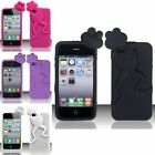 For iPhone 4/4S Frog Style Silicone Case Cover