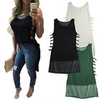 Fashion Women's Summer Caged Vest Top Sleeveless Blouse Casual Tank Tops T-Shirt
