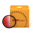 Zomei 82/77/72/67/62/58/52mm Ultra slim Graduated Red Filter For DSLR Camera