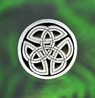 "2 Celtic Trinity Knot Pewter Shank Buttons 1/2"" (13 mm) 3/4"" (19 mm) 1"" (25 mm)"