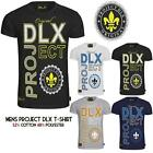 Mens Project DLX Printed Designer Round Neck Short Sleeves T-Shirts Tops Sizes