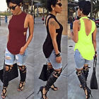 Women Sexy Backless Tops Summer Sleeveless Casual Blouse Shirts T-shirts Gift