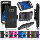 Rugged Hybrid Hard Cover Shockproof Clip Case for Samsung Galaxy S7 / S7 Edge