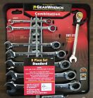 New... GearWrench 8 pc. SAE  Full Polish Ratcheting Combination Wrench Set