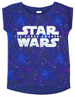 Girls Star Wars The Force Awakens Glitter Galaxy Print T-Shirt Top 6 to 15 Years