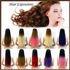 """Halloween DIY One Piece Clip in Two Tone Straight Ombre Long Hair Extensions 24"""""""